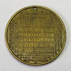 1828 Calendar medal – Anon (probably Thomas Halliday)