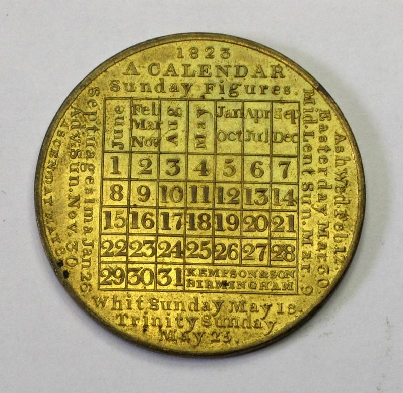 1823 calendar by Kempson
