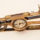 A BRASS PORTABLE MINING CLINOMETER CIRCA 1880 - DAVIS & SON LONDON & DERBY