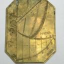 Rare Capuchin brass dial in its original leather case.