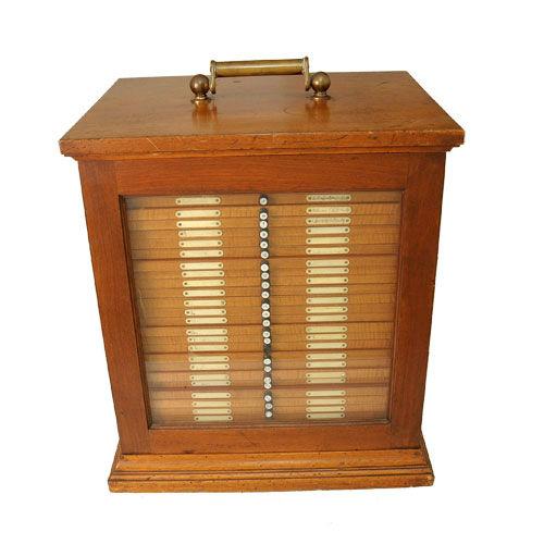 Victorian slide cabinet