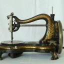 Jones Hand Sewing Machine Serpentine Swan Neck Brass Badge