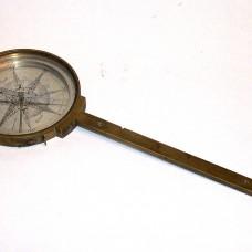 "Beautiful 19th century  Italian  Surveyors  compass  signed  ""Verno fece Milano 1811"""
