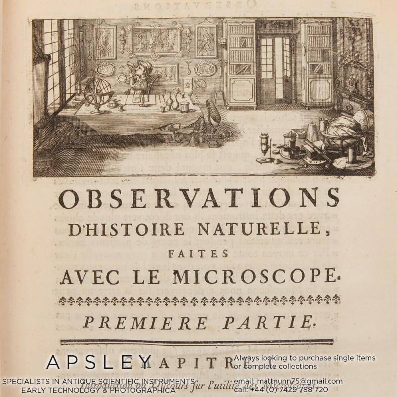 Joblot – Observations d'Histoire naturelle, faites avec le Microscope, sur un grand nombre d'Insectes