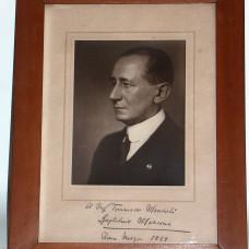 Rare original autographed photo with a dedication of Guglielmo Marconi,  in Rome March 1929.
