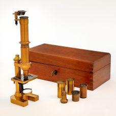 An early Carl Zeiss Jena brass Microscope