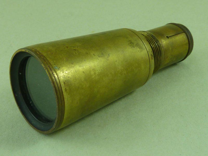 Brass Sextant Telescope Optical Sight Antique