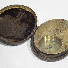 Brass sundial signed CHAPOTOT A PARIS made circa 1680/1690