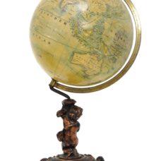 Der Globus gezeichnet von Prof. Dr. Otto Delitsch.