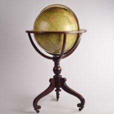 Monumental 18 inch Terrestrial Globe – Johnston, Edinburgh, Scotland, 1861