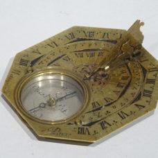 Sundial in brass signed by Macquart à Paris