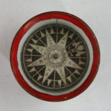 Whaling or Coastal Compass in binnacle of limewood – A.J. Schokking, Amsterdam, 19th century