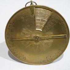 18th century Perpetual Calendar In Brass Signed
