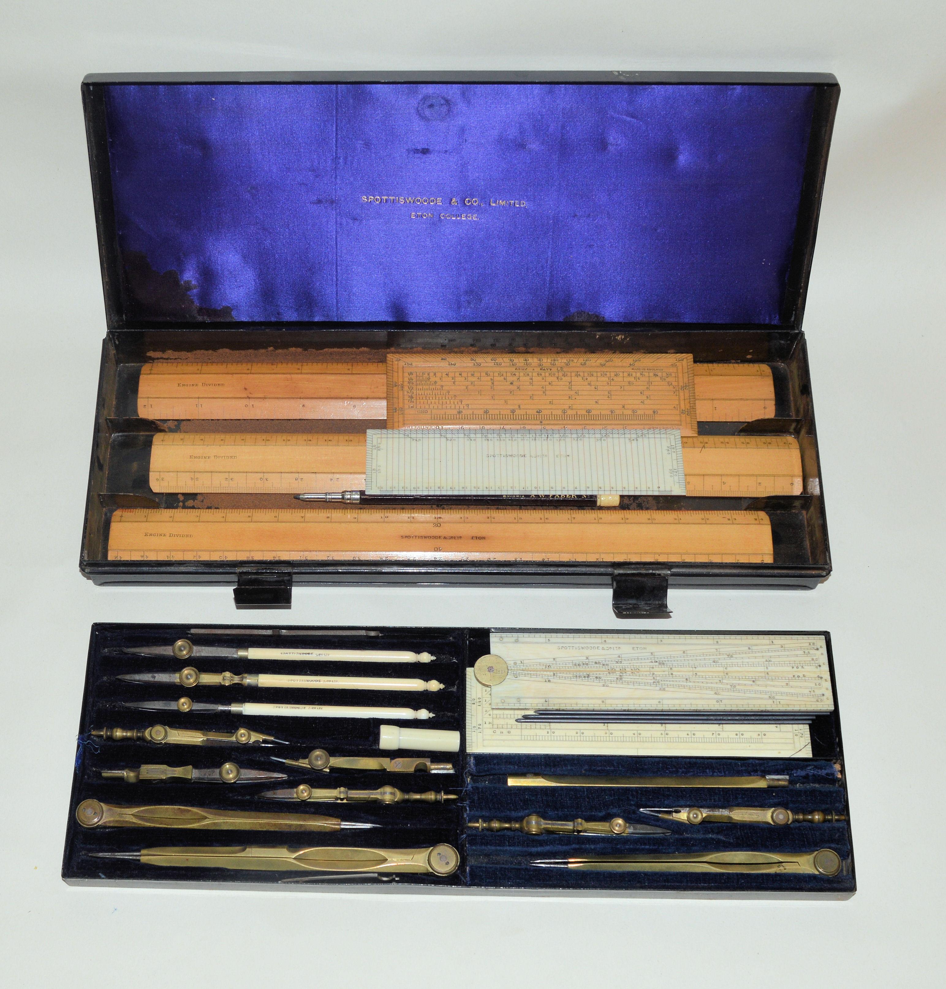 Drawing set in case – Spottiswoode & Co. Ltd., Eton.