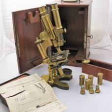 A rare large model binocular microscope by Nachet, late 19th century