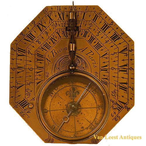 Nicholas Bion Brass sundial, C 1700