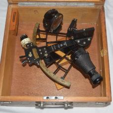 WW2 German sextant with swastika & eagle, C. Plath, Hamburg.