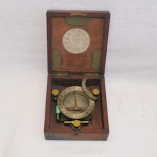 SOLD – Universal compass sundial in case – L. Casella, London