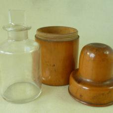 S Maw Son & Thompson London Large Pharmacy Bottle Turned Boxwood Holder Chemist Antique