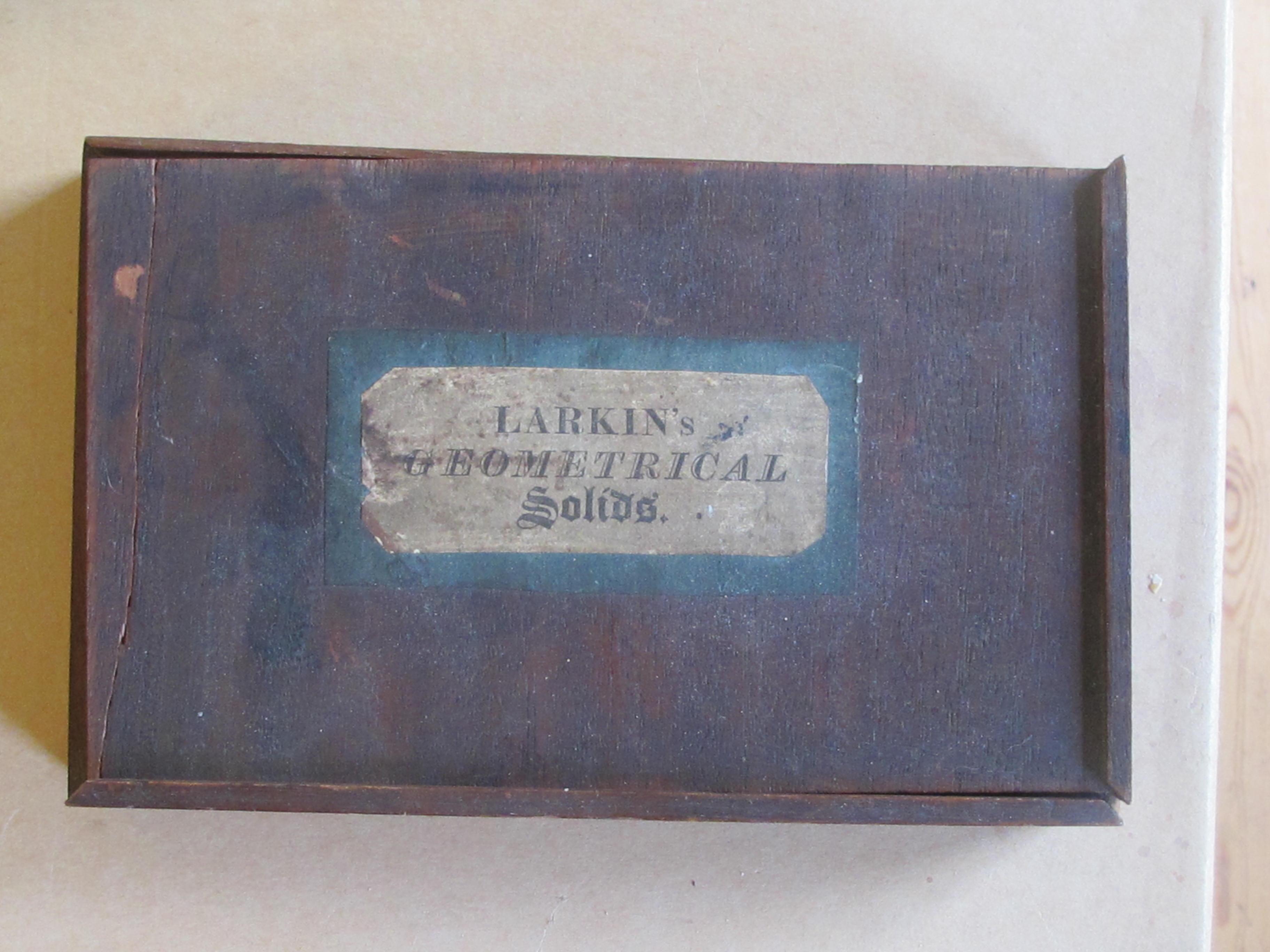 A Set of Larkin's Geometrical Solids c1820