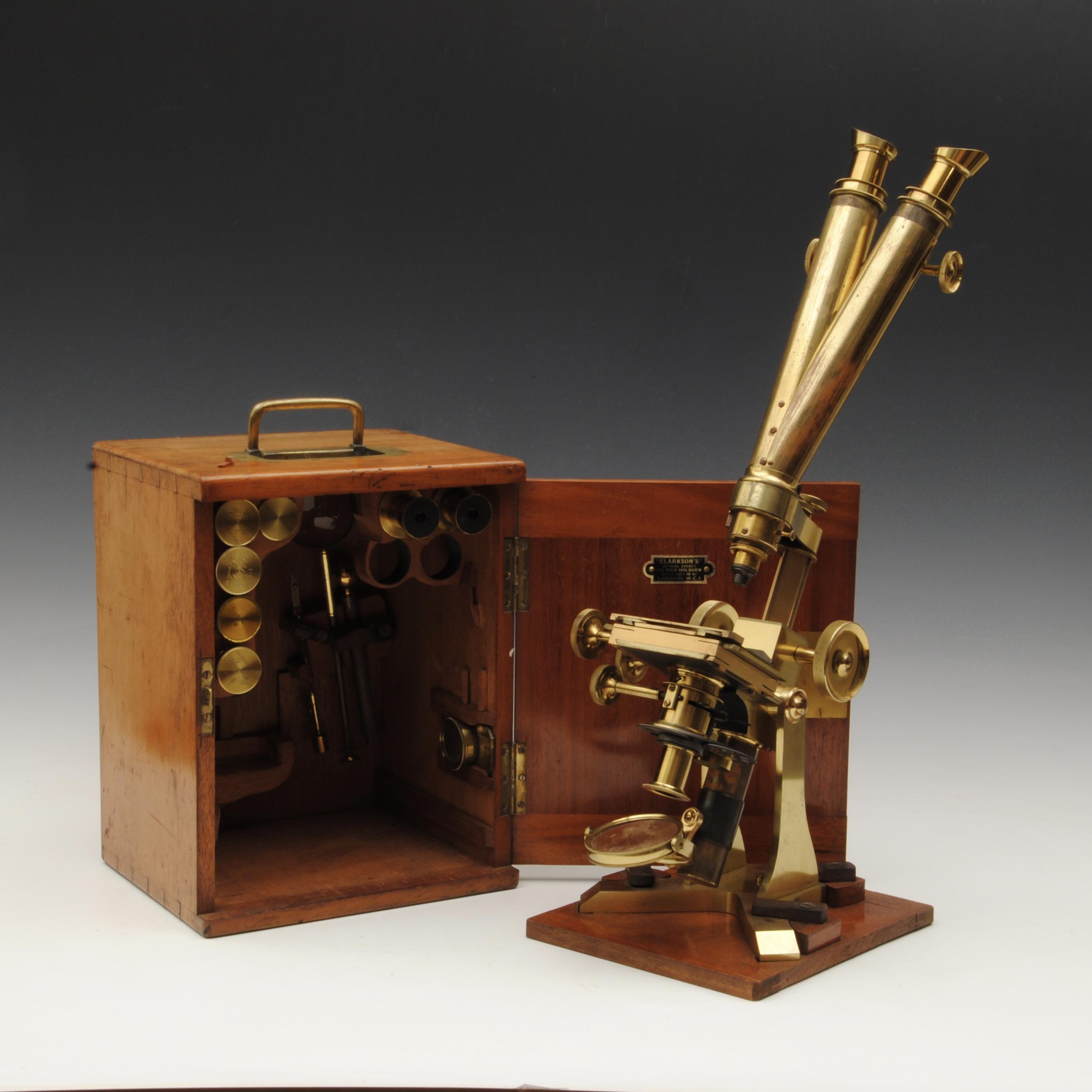 A fine 19th century binocular compound microscope by Swift London