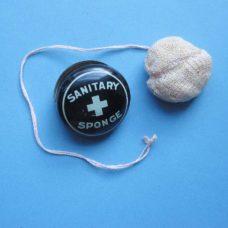 C1930s Unused Contraceptive Sponge in Original Tin