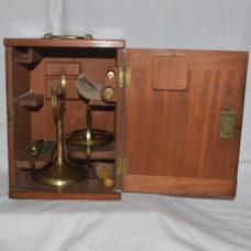 Brass Gyroscope in case – Elliott Bros.