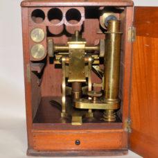 SOLD – Microscope in case – Baker