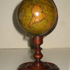 "A FINE 3"" MINIATURE TERRESTRIAL GLOBE, Newton & Son c. 1820"