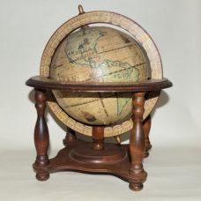 Wooden table globe. Ex – window display model.