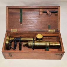 Small microscope in case