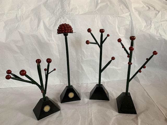 Antique wooden Botanical models