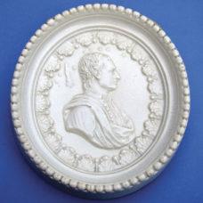 A STAFFORDSHIRE PLAQUE OF JULIUS CAESAR AND HIS COMET