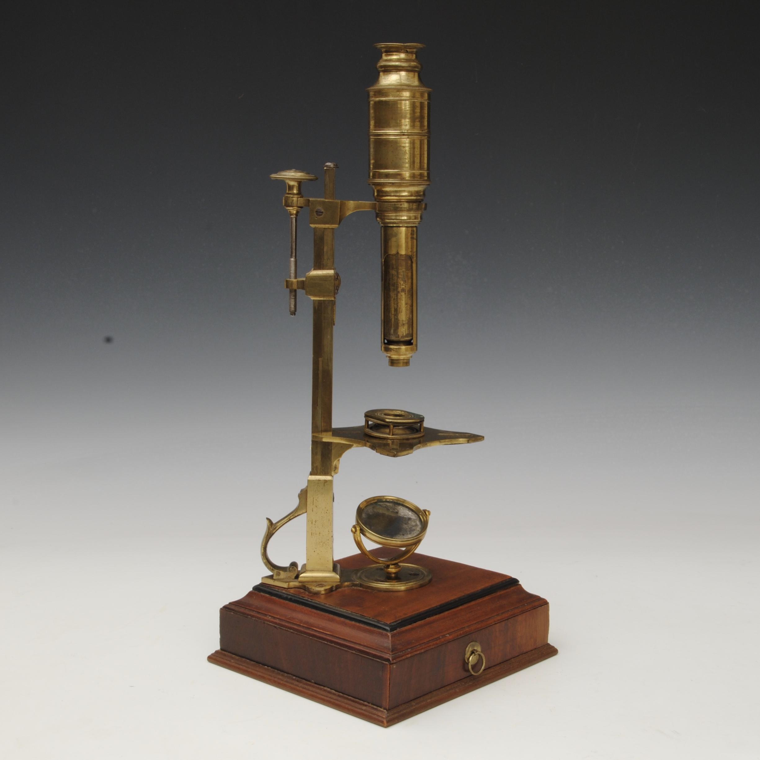 George Sterrop Cuff type microscope in original mahogany case
