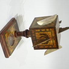 Cubic sundial made by David Beringer circa 1780