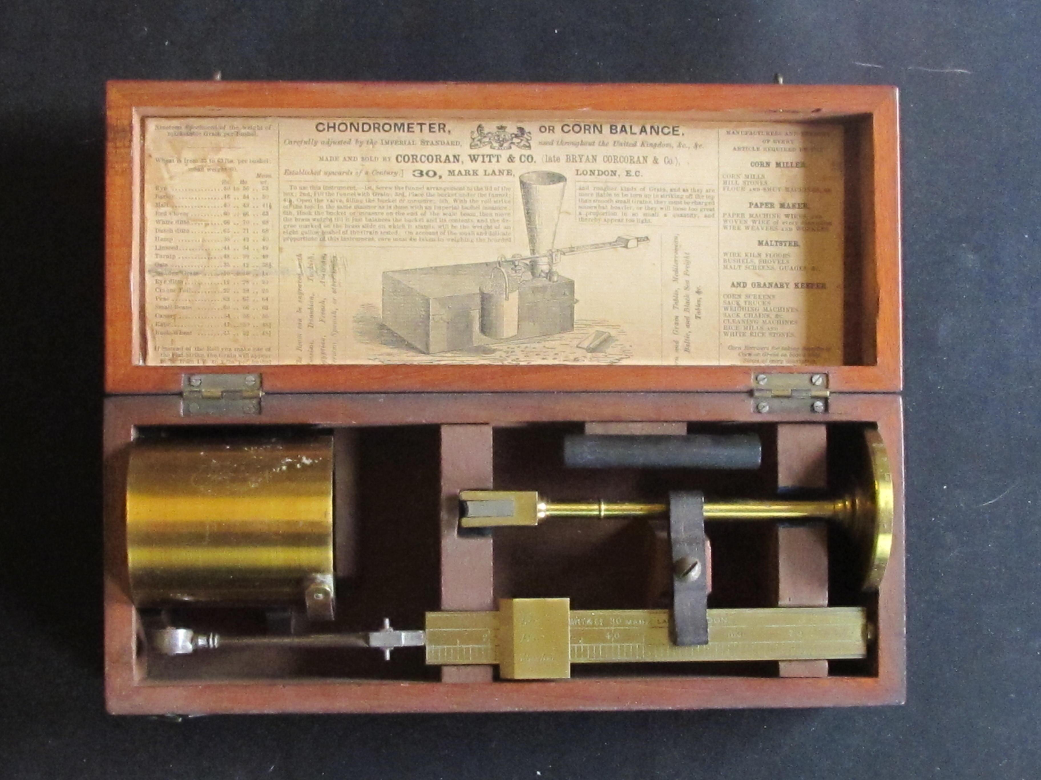 A Good Chondrometer by Corcoran, Witt & Co. 30, Mark Lane London