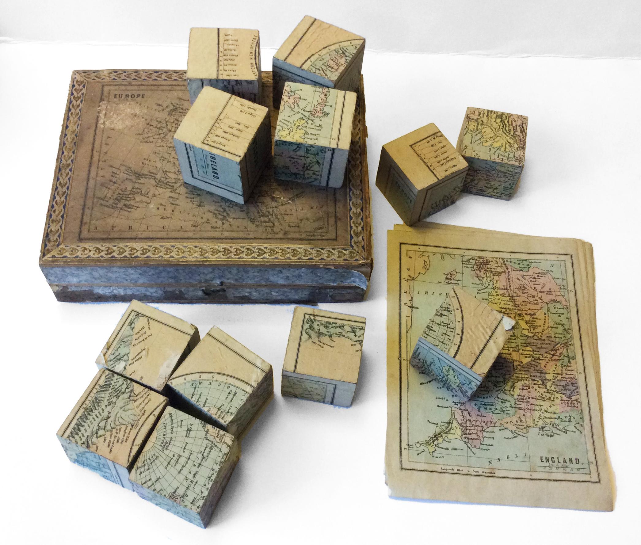 Victorian puzzle maps: complete set, c.1870