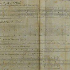 Scarce illustrated booklet on the Lenoir-Gravet slide calculating rule – 1837