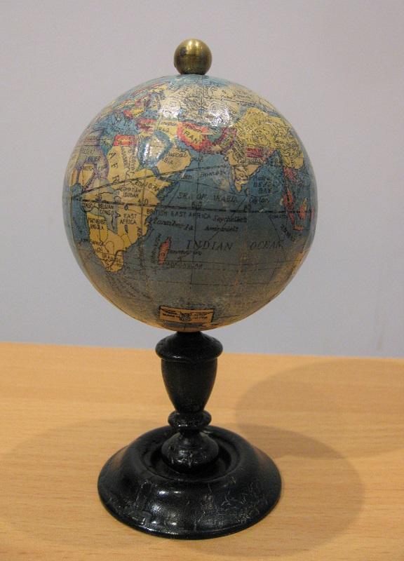 A rare WWII English-Japanese small terrestrial globe, circa 1940