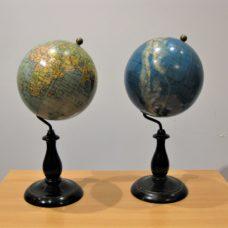 A good pair of Swedish globes by Columbus Jordglob Ivar Asp Ab in Stockholm, circa 1920