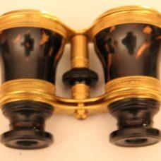 ~FABULOUS PAIR OF TORTOISESHELL and GILT BRASS OPERA GLASSES-NEGRETTI & ZAMBRA~