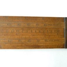 24″ Brewers Proof Double Slide Rule Loftus London Alcohol Calculator Boxwood Large