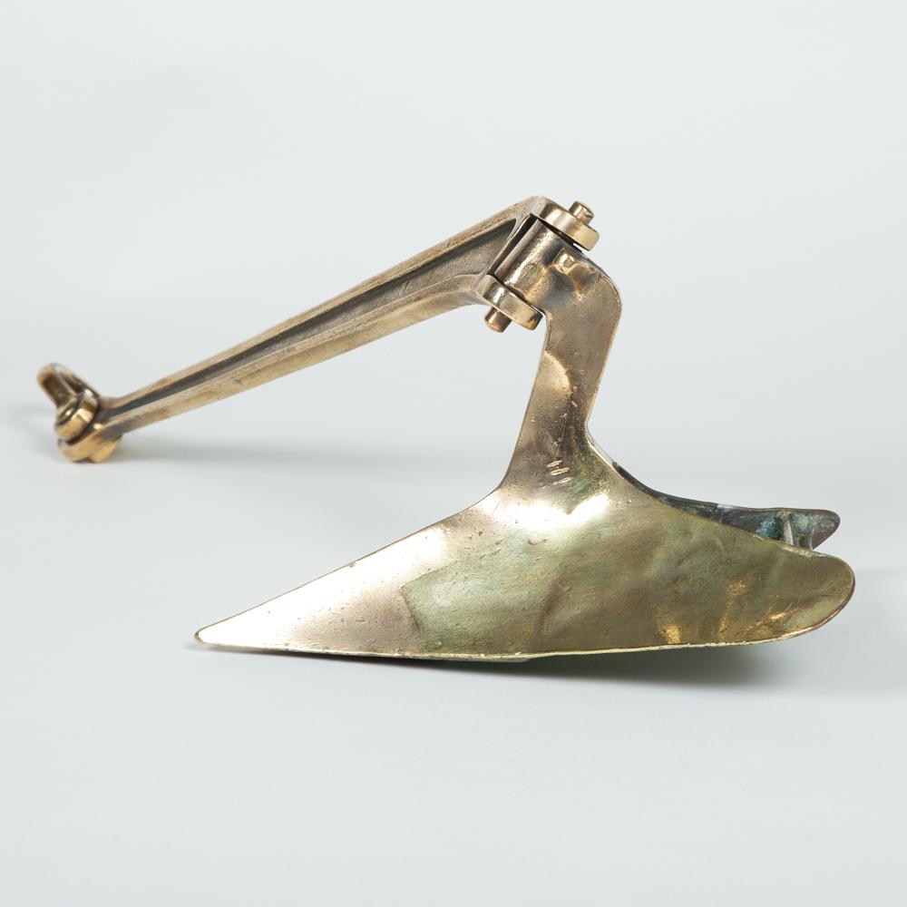 "Scale bronze patent ""CQR"" plough anchor, circa 1935."