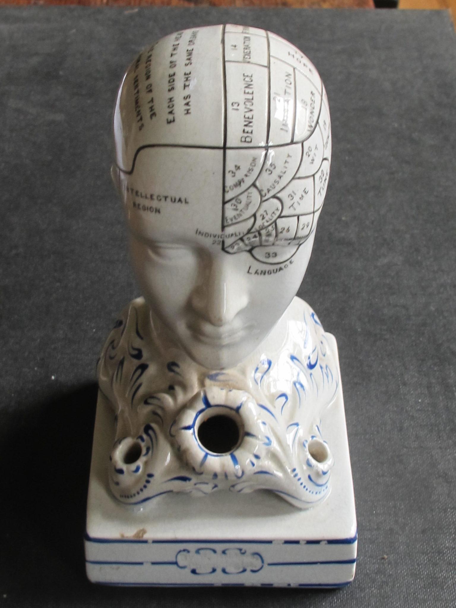A Good Example of F. Bridges Phrenology Inkwell