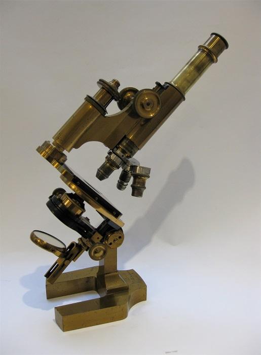 A Rare Vérick's large model of microscope, circa 1883-85