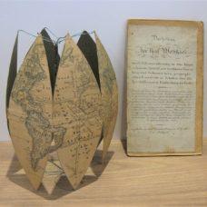 A German terrestrial folding globe by Schulz in Stuttgart, 1825-1830