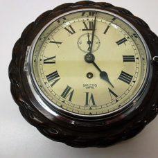 Oak cased ship's clock