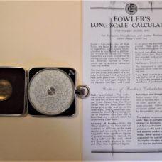 FOWLERS CALCULATOR ( SLIDE RULE )