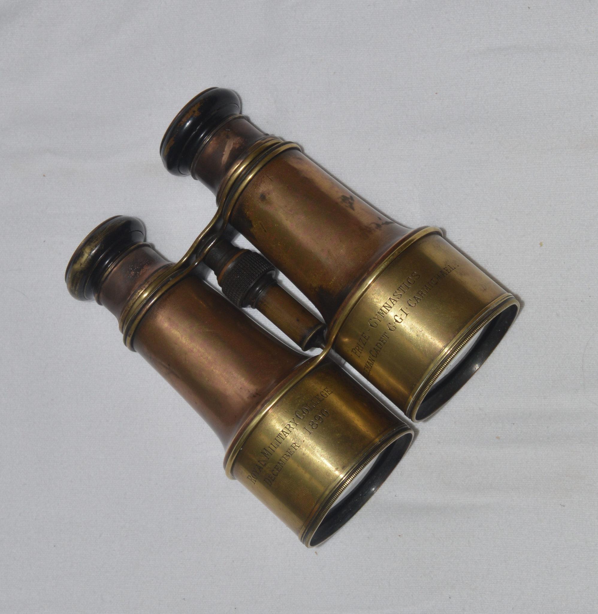 Presentation binoculars in case, Royal Military College