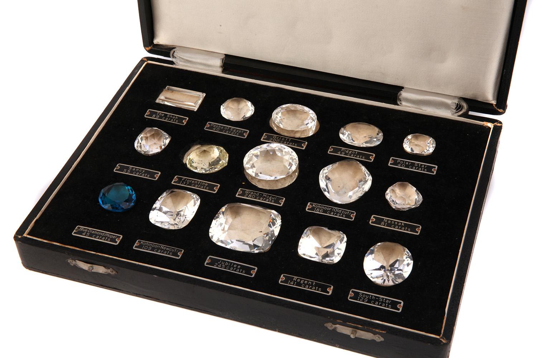 A late 19thearly 20th century replica set of  Historical Diamonds
